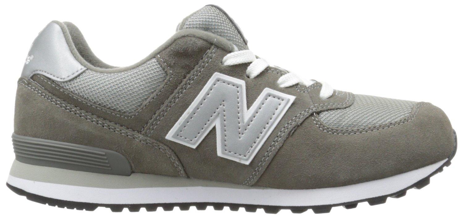 New Balance KL574 Grade Running Shoe (Big Kid), Grey/Silver, 4.5 M US Toddler by New Balance (Image #6)