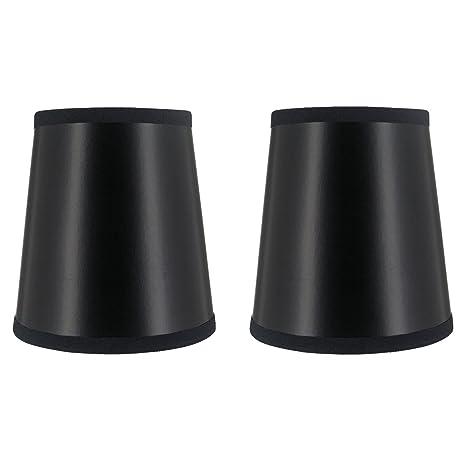Upgradelights set of 2 black 4 inch chandelier shade wall sconce upgradelights set of 2 black 4 inch chandelier shade wall sconce shades barrel drum 3x4x4 aloadofball Images