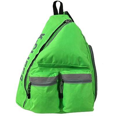 Reflective Sling Backpack Bright Color Body Bag Messenger Bag Daypack School Student Bookbag With Safety Reflective Stripe - Fluorescent Green | Kids' Backpacks