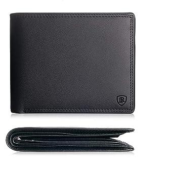27eb49bd906e4 Geldbörsen   Etuis Damen-Accessoires Herren RFID echt Leder Geldbörse  Brieftasche Portemannaie Schwarz querformat NFC