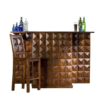 Evok Juniper Solidwood Bar Cabinet