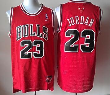 Nike Jersey, de los Chicago Bulls Michael Jordan, L, Rojo: Amazon.es: Deportes y aire libre