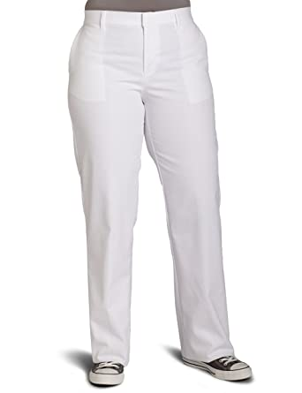 Dickies Women's Wrinkle Resistant Flat Front Twill Pant With Stain ...