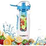 Infuser Bottle, Youngdo Fruit Infuser Water Bottle, 900ML Leak Proof BPA Free Outdoor Sports Bottle