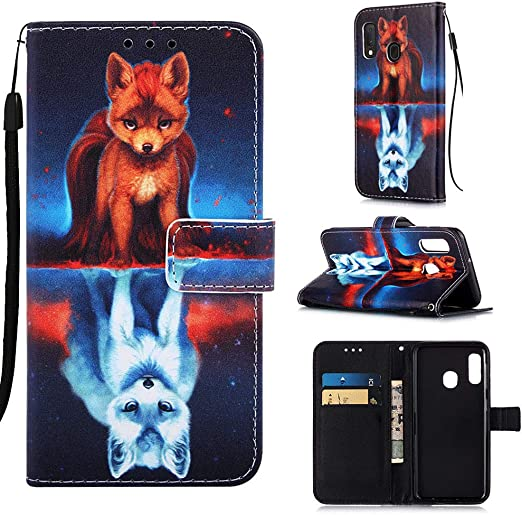 Flip Case for Samsung Galaxy A10E//A20E Leather Cover Business Gifts Wallet with Extra Waterproof Underwater Case