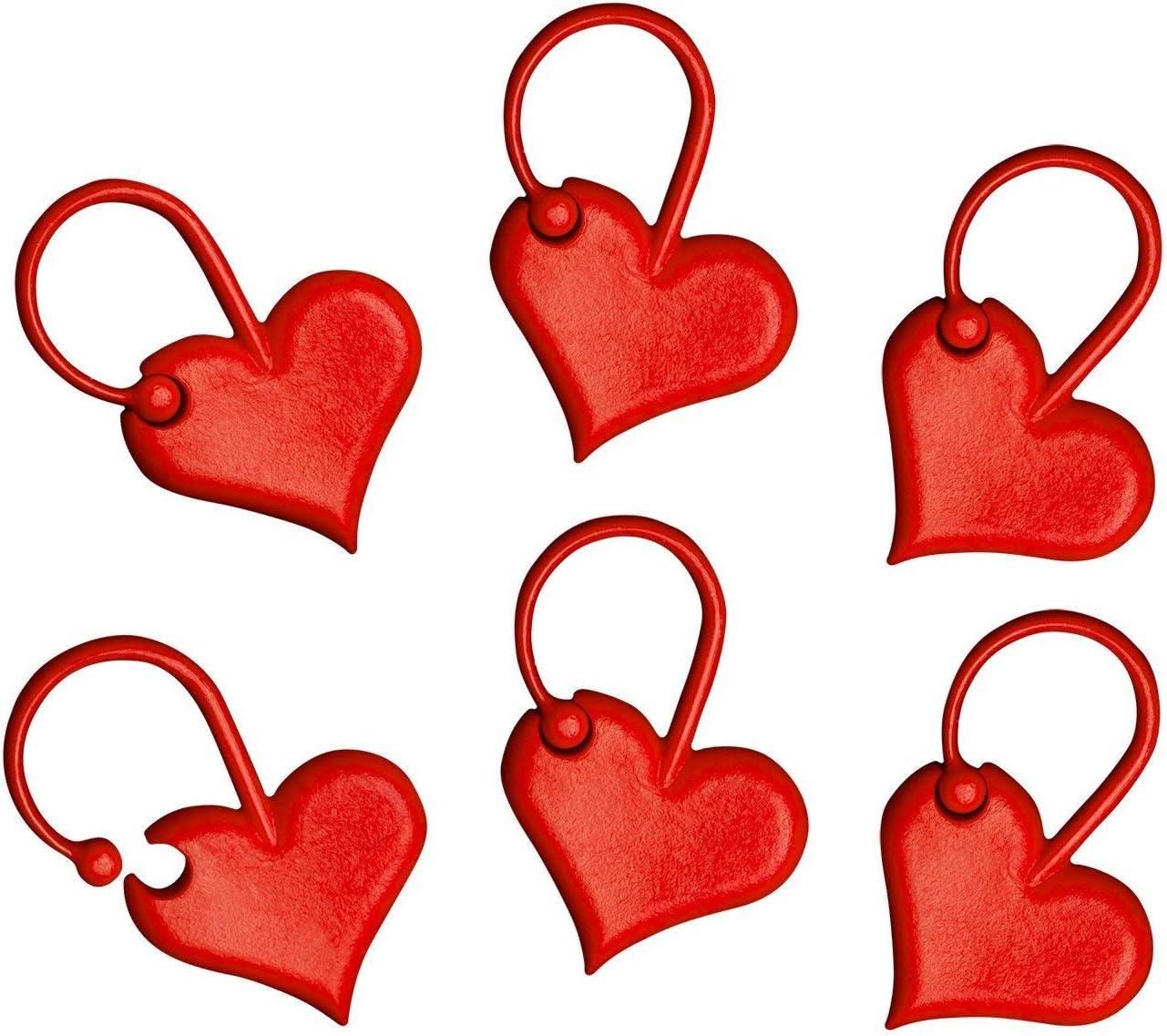 Heart Stitch Markers Stitch Marker Set Filigree Heart Stitch Markers Bead Stitch Marker Round Stitch Marker Stitch Markers
