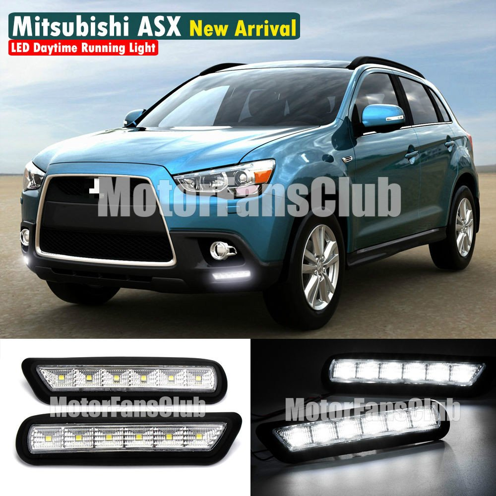 MotorFansClub LED Daytime Running Light DRL Fog Lamp Cover for Mitsubishi ASX Outlander Sport DRL 2010 2011 2012