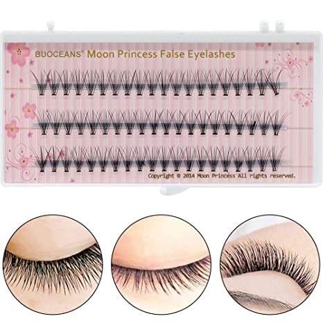 Pestañas postizas, 3D artificiales reutilizables pestañas, Indi viduals Medium, Knot Free, Eyelashes - sin pegamento, 1er Pack (1 x 60 unidades): Amazon.es: ...