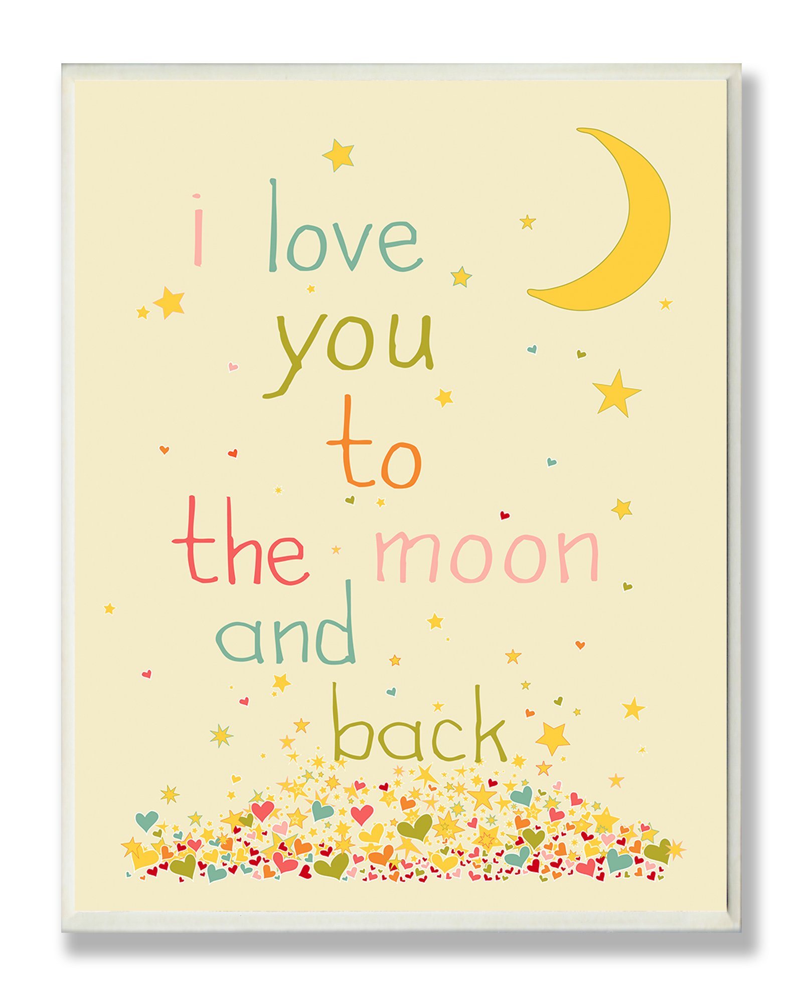 The Kids Room by Stupell I Love You to The Moon and Back Rectangle Wall Plaque, 11 x 0.5 x 15, Proudly Made in USA by The Kids Room by Stupell