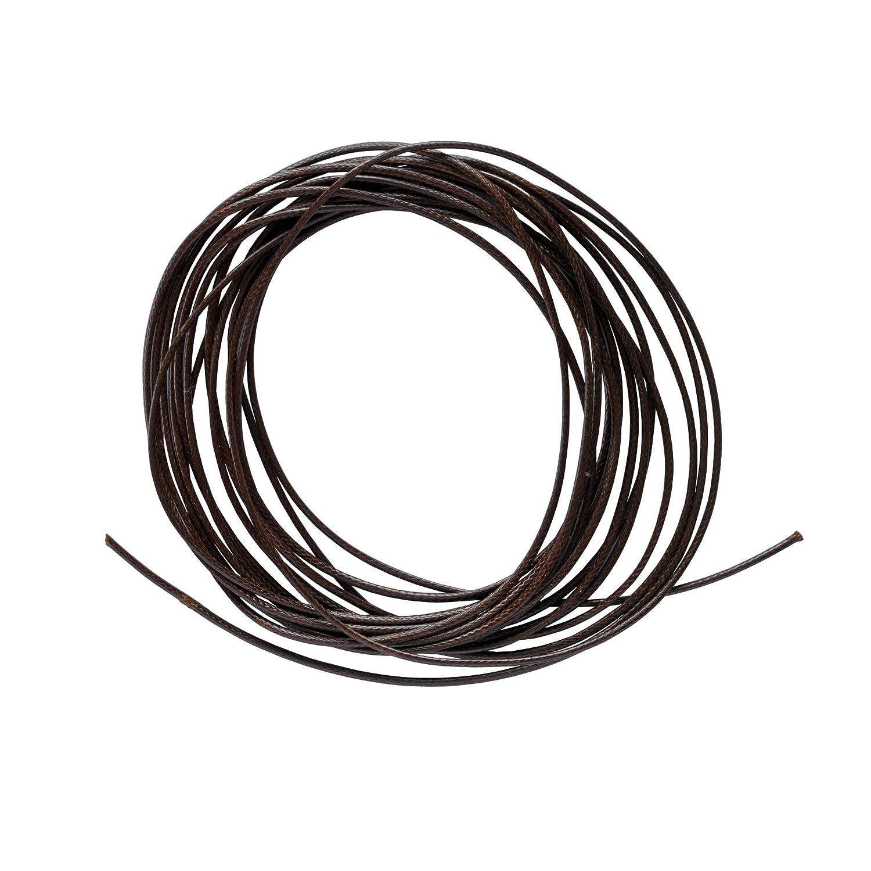 Cord/ón de poli/éster Encerado 1,5 mm Color marr/ón Oscuro 4 Metros Boutique Des Colors