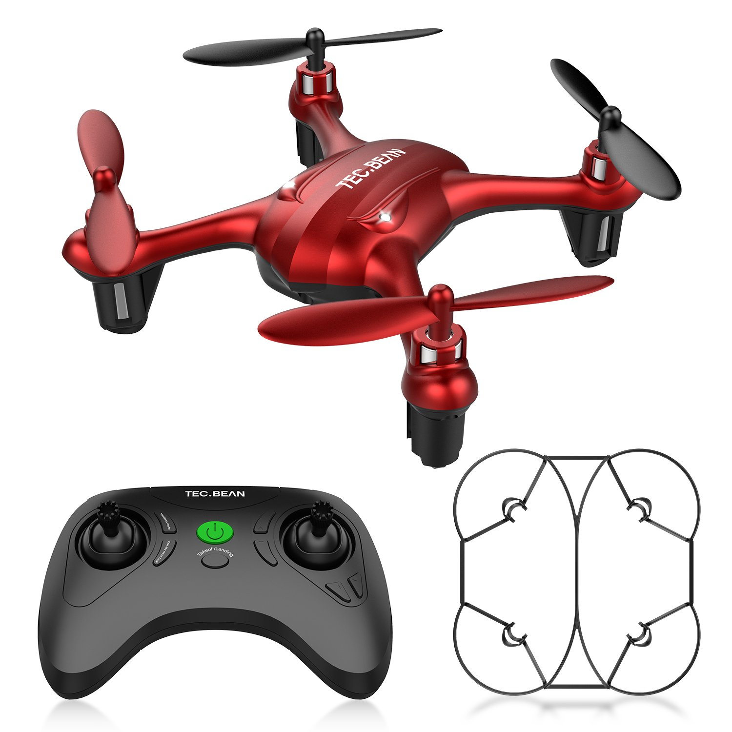 TEC.BEAN Mini Drone for Beginners Hovering Quadcopter with Altitude Hold Mode One Key Take Off Landing Return Home Entry Level for Kids by TEC.BEAN (Image #1)