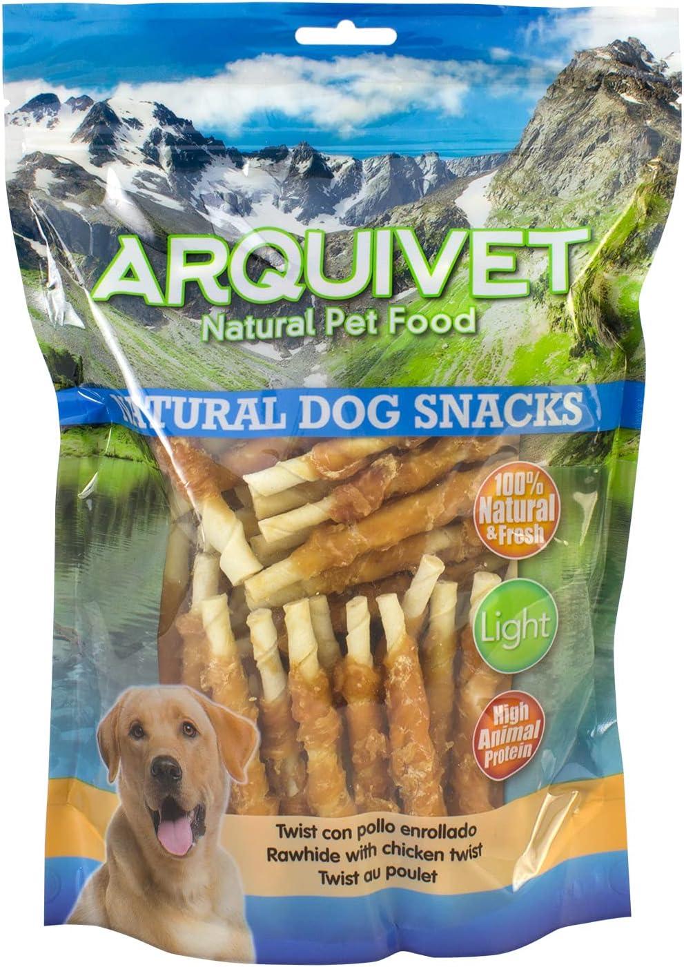 Arquivet Twist con pollo enrollado - Snacks Naturales para perros - Chuches para perros - Golosinas para perro - Premios para tu mascota - 13 cm - 1 ...