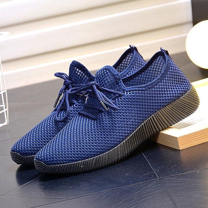 GongzhuMM Homme Chaussures de Sport Mesh Couleur Unie Baskets Sneakers  Chaussures de Course Chaussures de Randonnée Basse pour Hommes 38-43 EU   Amazon.fr  ... 1f44e6668961