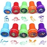 Kit de herramientas de estampado de dibujos animados lindo conjunto de 10 decorar tarjetas artesanías para niños niños (Dinosaurio mundo estampado)