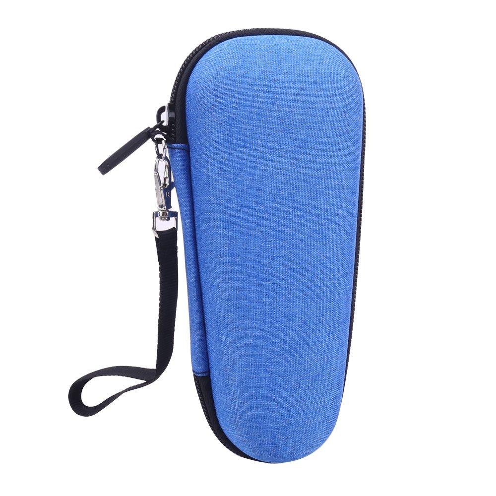Storage Organizer Travel Hard Case for Schick Hydro Silk TrimStyle Moisturizing Razor for Women Bikini Trimmer by Aenllosi (Blue)
