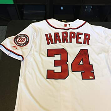 Image Unavailable. Image not available for. Color  Bryce Harper Signed  Jersey ... ca73c1678