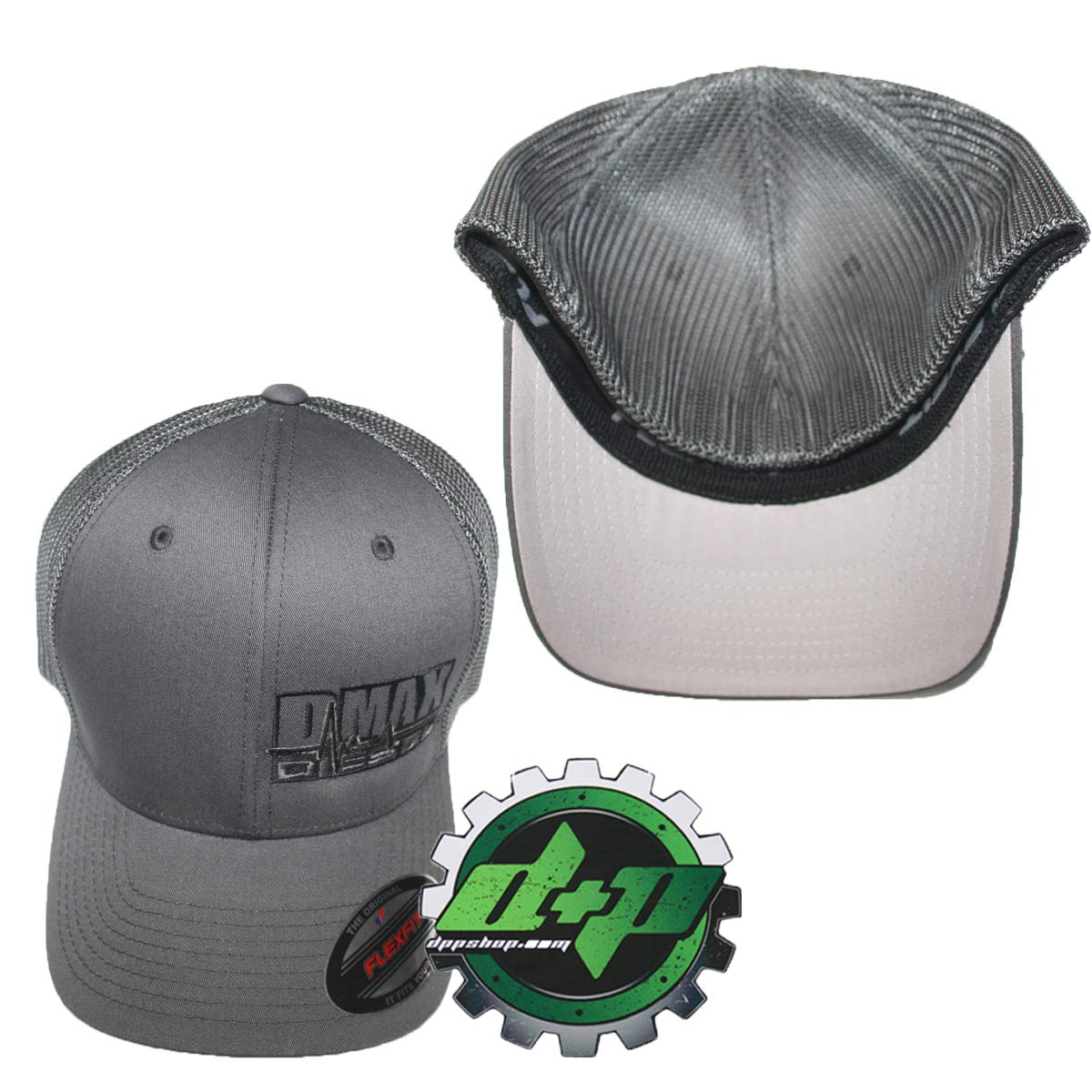 bfe8f5e0e Amazon.com: OSFM DMAX Diesel Flexfit Fitted Flex fit Ball Cap hat Chevy  Duramax Charcoal: Sports & Outdoors