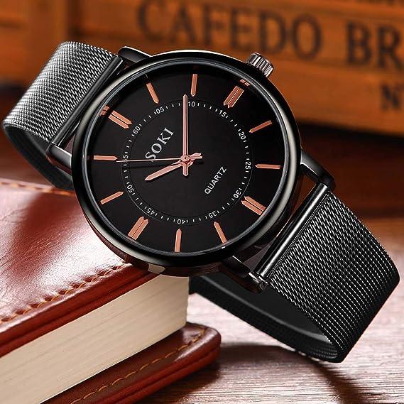 Amazon.com : XBKPLO Mens 40mm Quartz Watches, Analog Quartz Watch Men, Mens Analog Quartz Watch, Mens Quartz Watch, Citizen Quartz Watches for Men, ...
