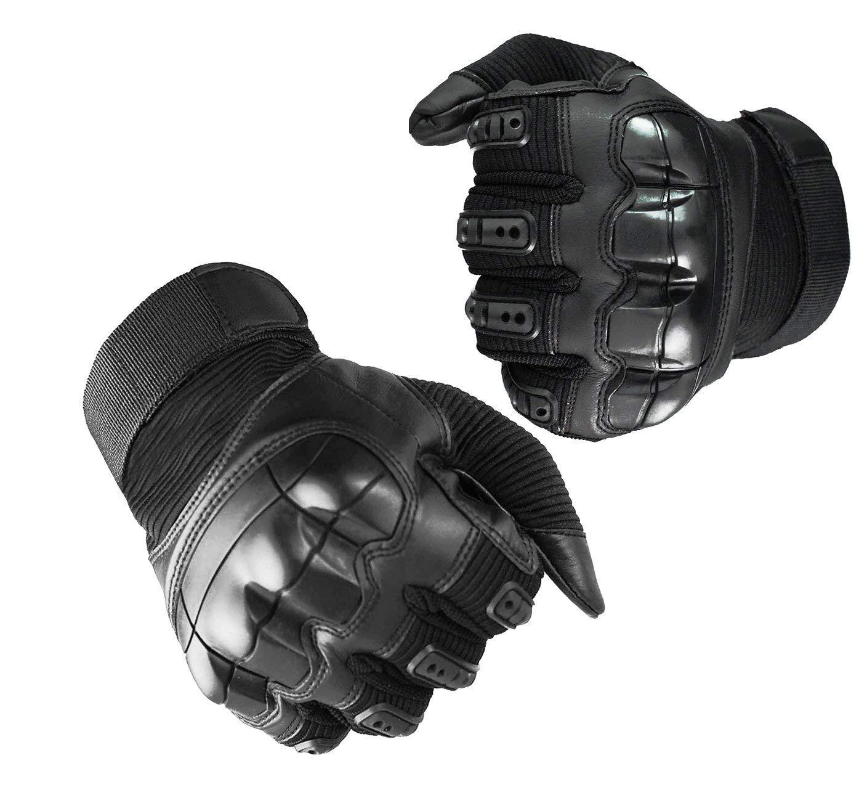 Noir, L AGDLLYD Gants Moto Tactiles Tout Saison Gants Scooter Anti-Glissant Gants Combat Anti-Usure