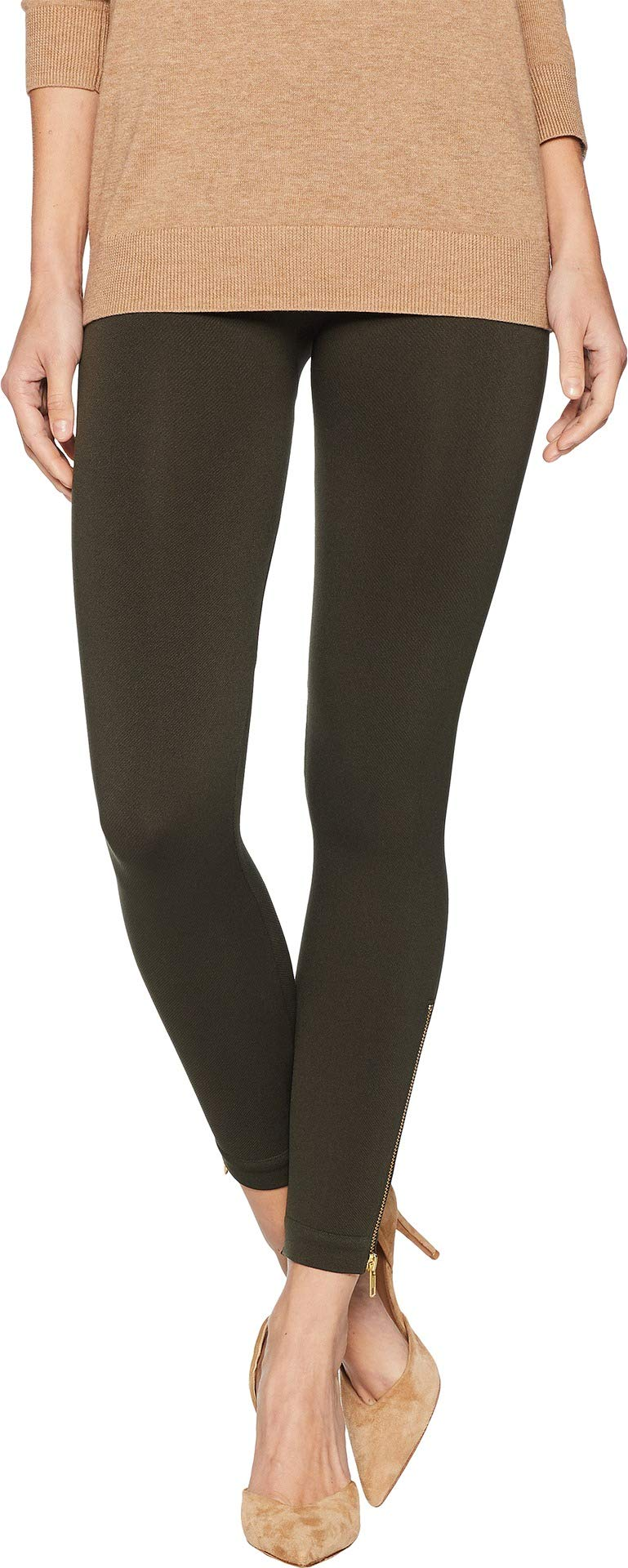 SPANX Women's Look at Me Now Seamless Side Zip Leggings Deep Olive X-Large