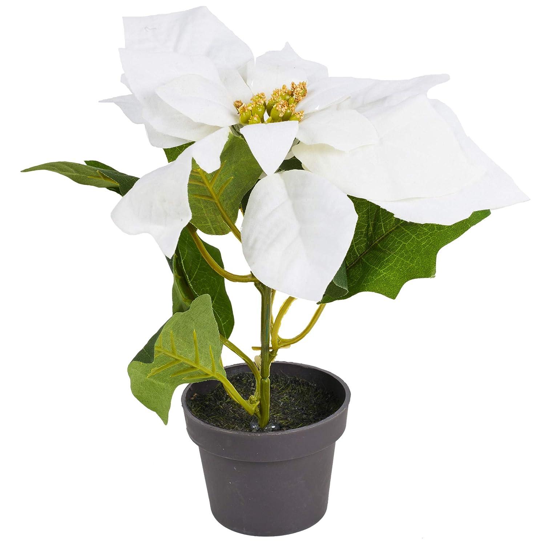 20 cm URBNLIVING Maceta Decorativa Realista de Flores de Pascua para Interiores