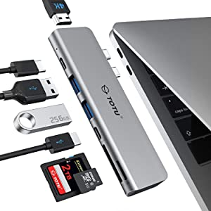 TOTU USB C Hub Docking for MacBook Air, MacBook Pro, Type C Hub with 4K HDMI, 100W Power Delivery, 40Gbps Type C 5K@60Hz,2 USB 3.0, Type C Data Port(5Gbps),SD/TF Card Reader