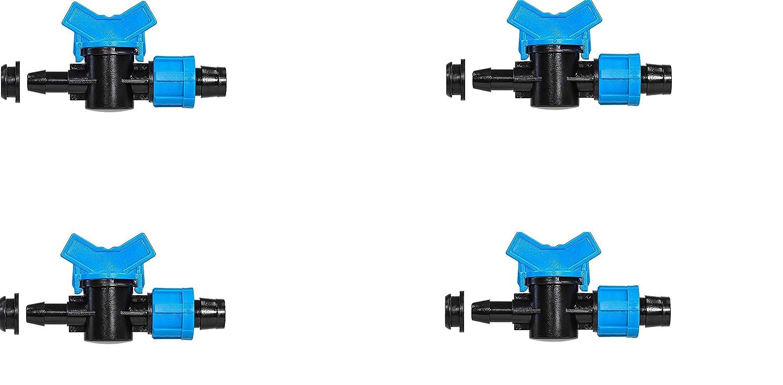 IRRIGATIONKING RKMV0017 스타터 미니 밸브 13MM 그로멧 X5 | 8 테이프 스위블(4X50 팩)