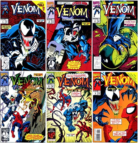 Venom Lethal Protector #1-2-3-4-5-6 Complete Limited Series #1-6 (Marvel Comics 1990 - 6 Comics)