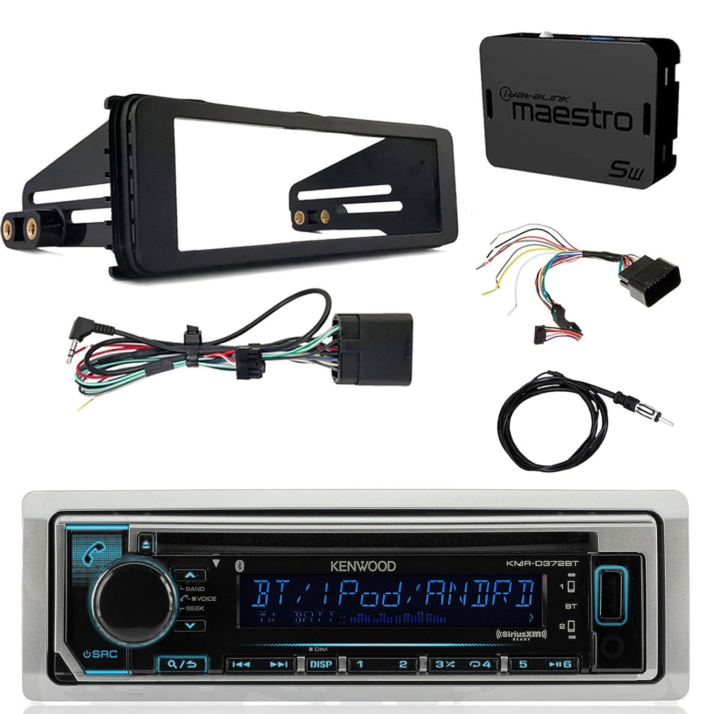 Kenwood Kmrd372bt Marine Cd Bluetooth Radio Idatalink Harley Davidson Gps Wiring Kit Enrock Dash Antenna 40 Select 98 13