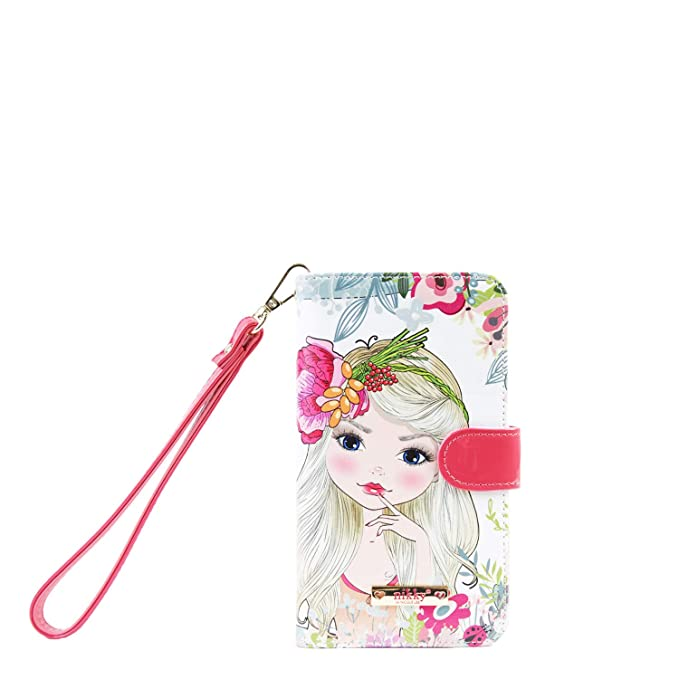 Amazon.com: Graphic Satine Universal Phone Case for Women with Removable Wristlet (Flower Girl Black): Cell Phones & Accessories