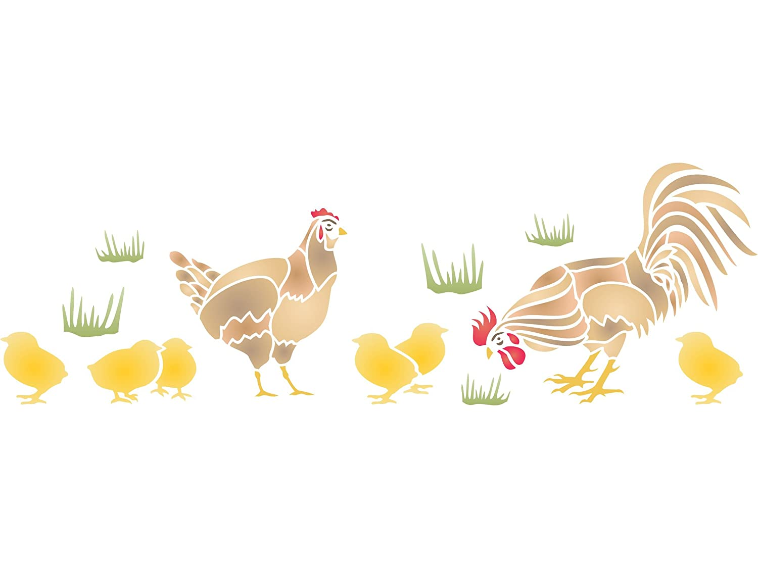 Amazon chicken stencil size 20w x 65h reusable wall amazon chicken stencil size 20w x 65h reusable wall stencils for painting best quality wall bird animal stencil ideas use on walls floors amipublicfo Gallery