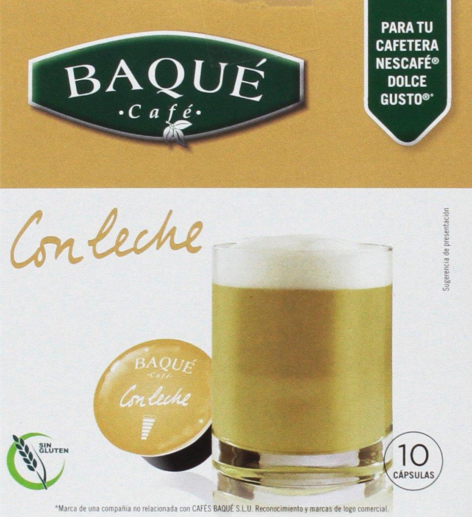 Cafés Baqué, Cápsulas de café (Con leche, compatible con Dolce Gusto) - 4 de 10 Cápsulas (Total 40 Cápsulas): Amazon.es: Alimentación y bebidas