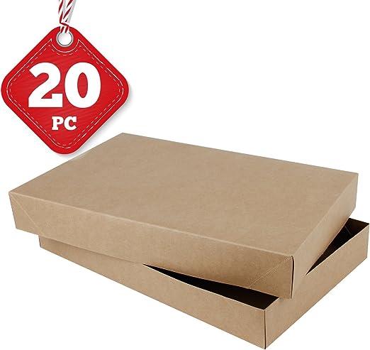 RUSPEPA Caja de Regalo de Cartón para Camisa Cajas de Regalo Decorativas para Ropa, 38,1 x 24,9 x 5 cm, Paquete ...