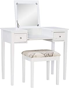 Linon Vanity Set White