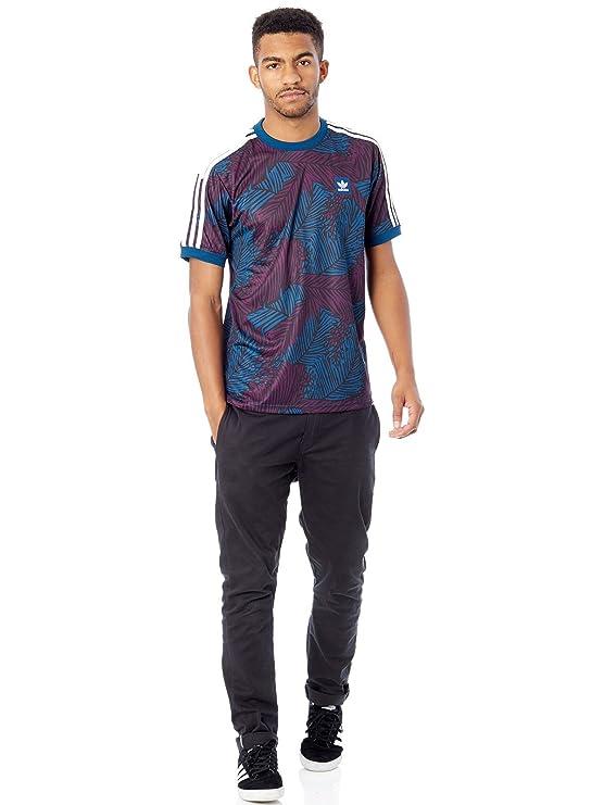 Adidas Soccer Jersey AOP Camiseta, Hombre, Azul (Azunoc/Rojnoc / Negro), XL: Amazon.es: Deportes y aire libre