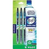 Pilot B2P - Bottle to Pen - Retractable Gel Roller Pens Made from Recycled Bottles, 3 Pen Pack, Fine Point, Black (31607)