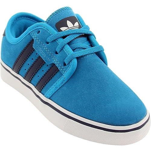 new product e2156 7be5b adidas Seeley J Skate Shoe - Boys  Solar Blue Night Sky Core White