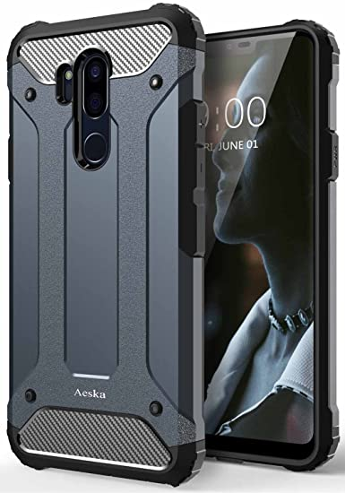sports shoes 0048a 5a0b7 LG G7 Case, LG G7 ThinQ Case, Aeska [Dual Layer] Heavy Duty Drop Protection  Armor Hybrid Defender Shockproof Protective Case Cover for LG G7 / LG G7 ...