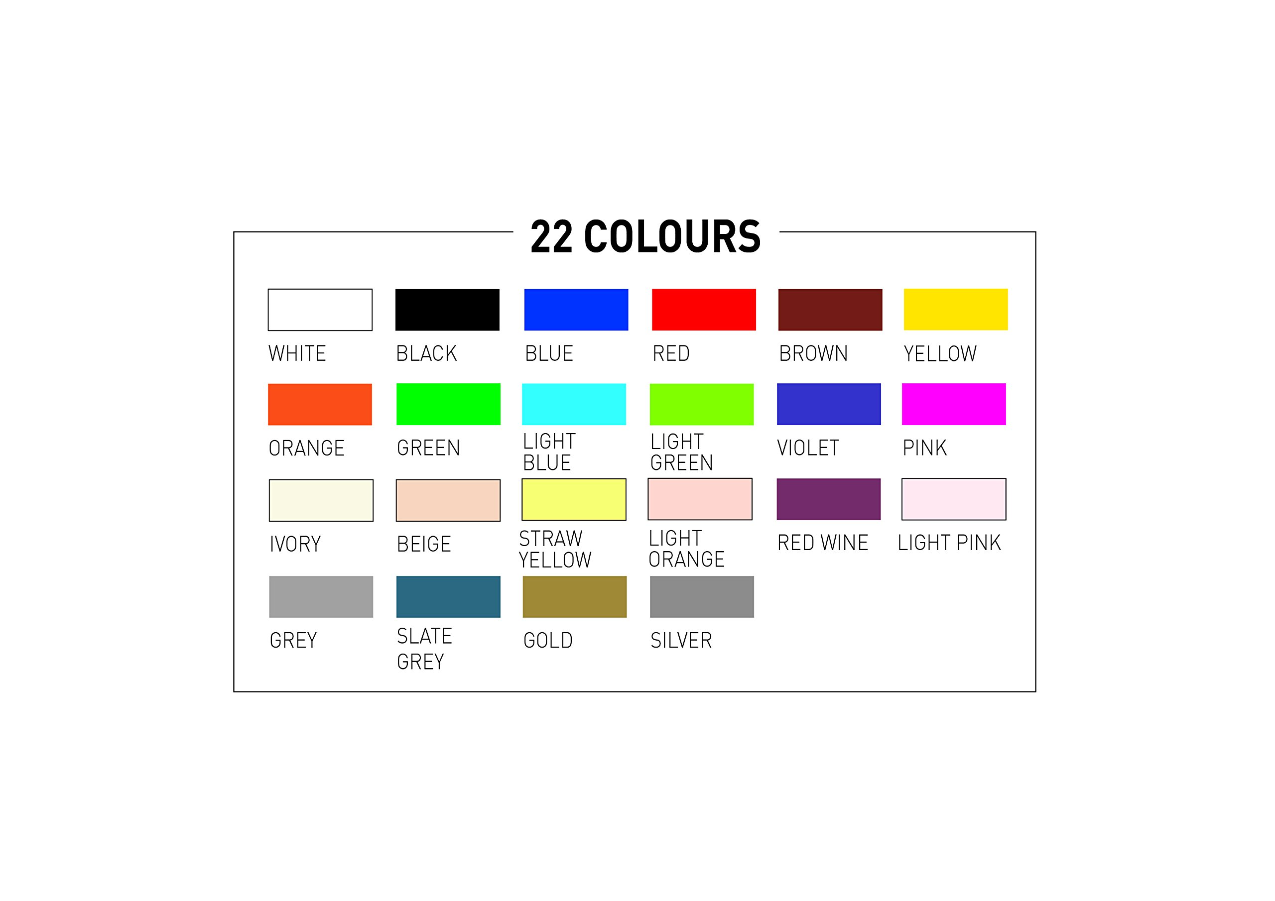 POSCA 153544865 1 mm Fine Tip Waterbased Paint Marker - Assorted Colours (Pack of 22) by posca (Image #3)