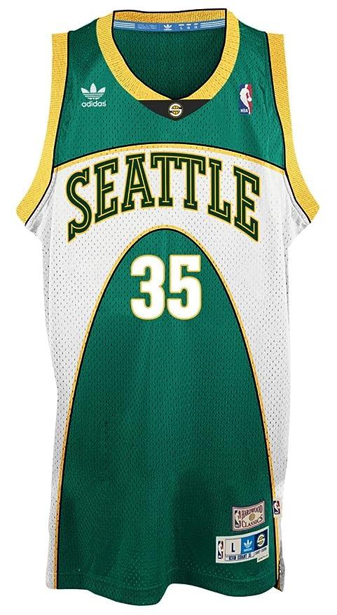 b0c6f33cc Amazon.com   Kevin Durant Seattle Supersonics Adidas NBA Throwback Swingman  Green Jersey (X-Large)   Sports   Outdoors