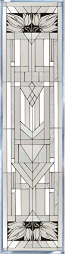 Silver Creek Mission Style White Painted Glass Panel R-113