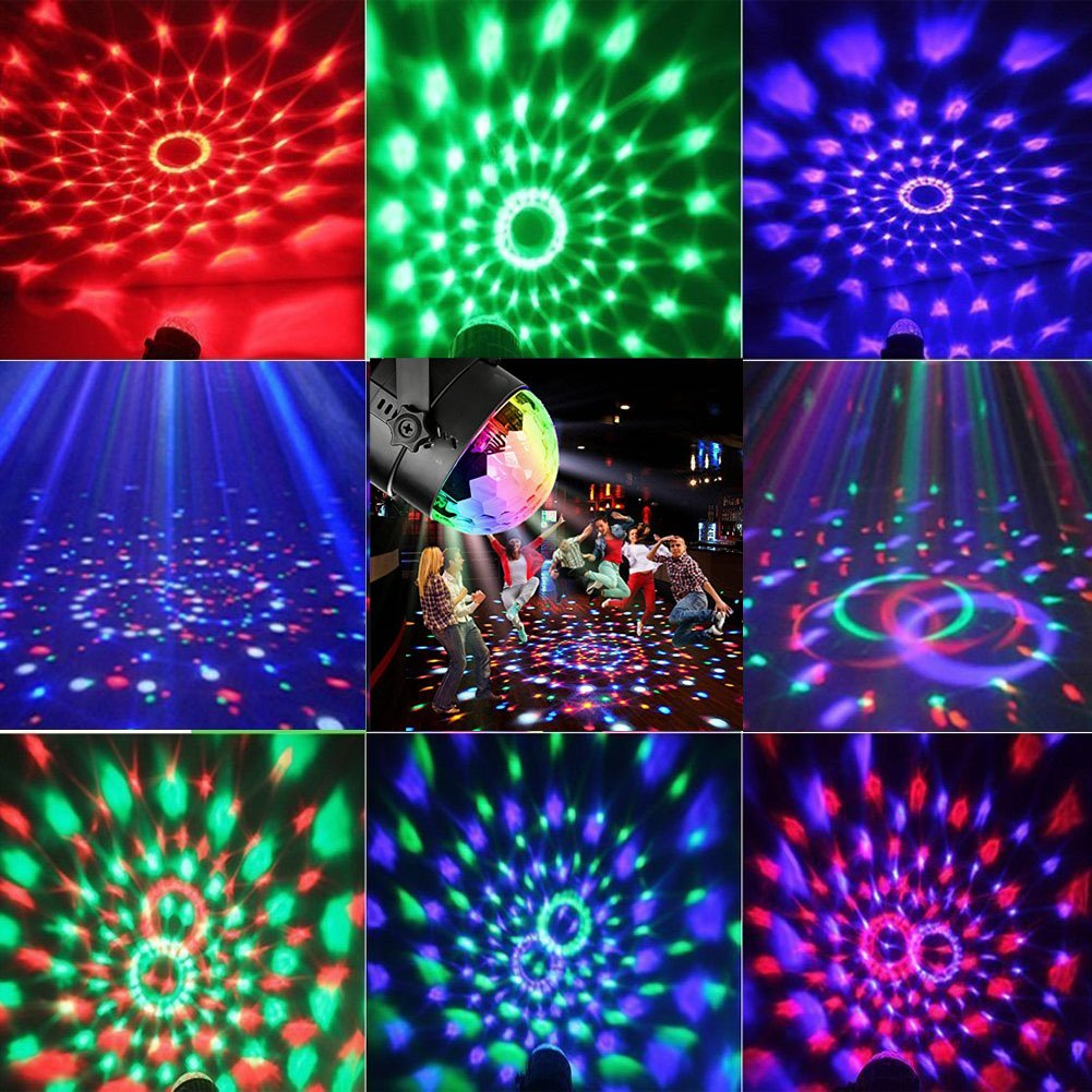 Disco Ball Strobe Light Party Lights Disco Lights Karaoke Machine 3W Dj Light LED Portable 7Colors Sound Activated Stage Lights for Festival Bar Club Party Outdoor and More (with Remote) by bestcan (Image #7)