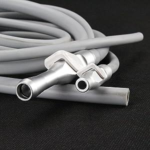 Melleco Dental Saliva Ejector Suction Valves SE/HVE Tip Adaptor + 2 Tubing Hose TuBES