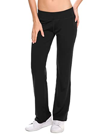 14afb912c5a61 IN'VOLAND Women's Boot Cut Yoga Pants Tummy Control Workout Sweatpants Boot  Leg Pants for