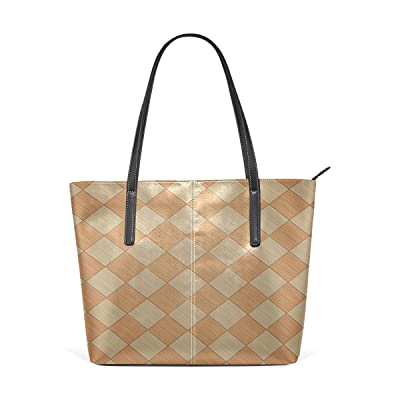 hot sale 2017 Womens Leather Top Handle Shoulder Handbag Wood Grain Large Work Tote Bag