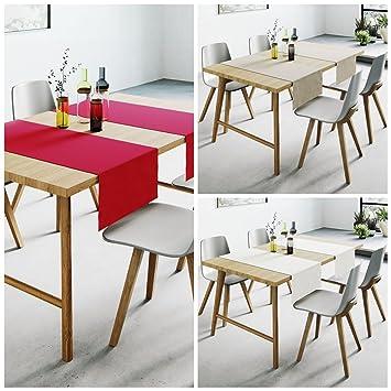 Aminata Home Tischläufer Grau 70 Baumwolle 30 Polyester Teflon á