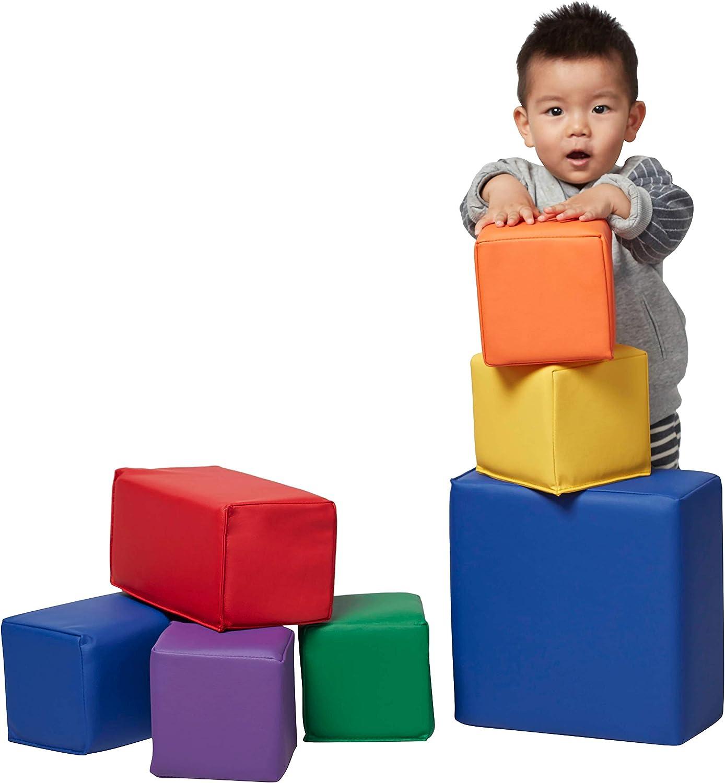 7-Piece Set Play for Kids ECR4Kids SoftZone Big Foam Building Blocks