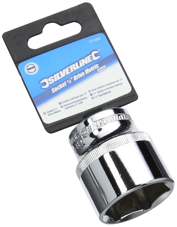 Silverline 771420 - Vaso mé trico de 1/2' (30 mm) Toolstream