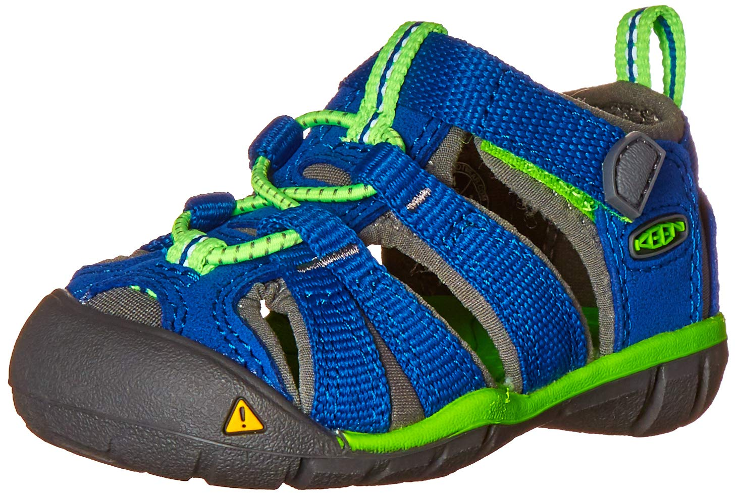 KEEN Unisex-Child Seacamp II CNX Sandal (Toddler), True Blue/Jasmine Green, 5 M US Toddler