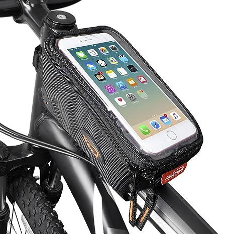 "6/"" Screen Size Bike Frame Strap Att... Ibera Bicycle Top Tube Phone Bag for 5/"""